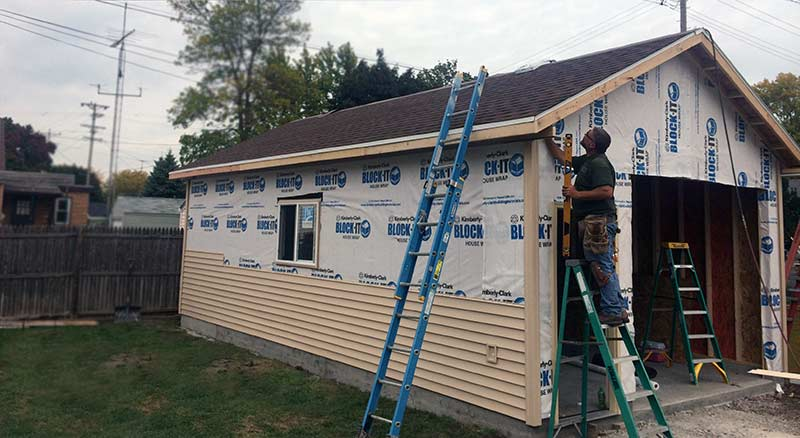 Siding for a new garage